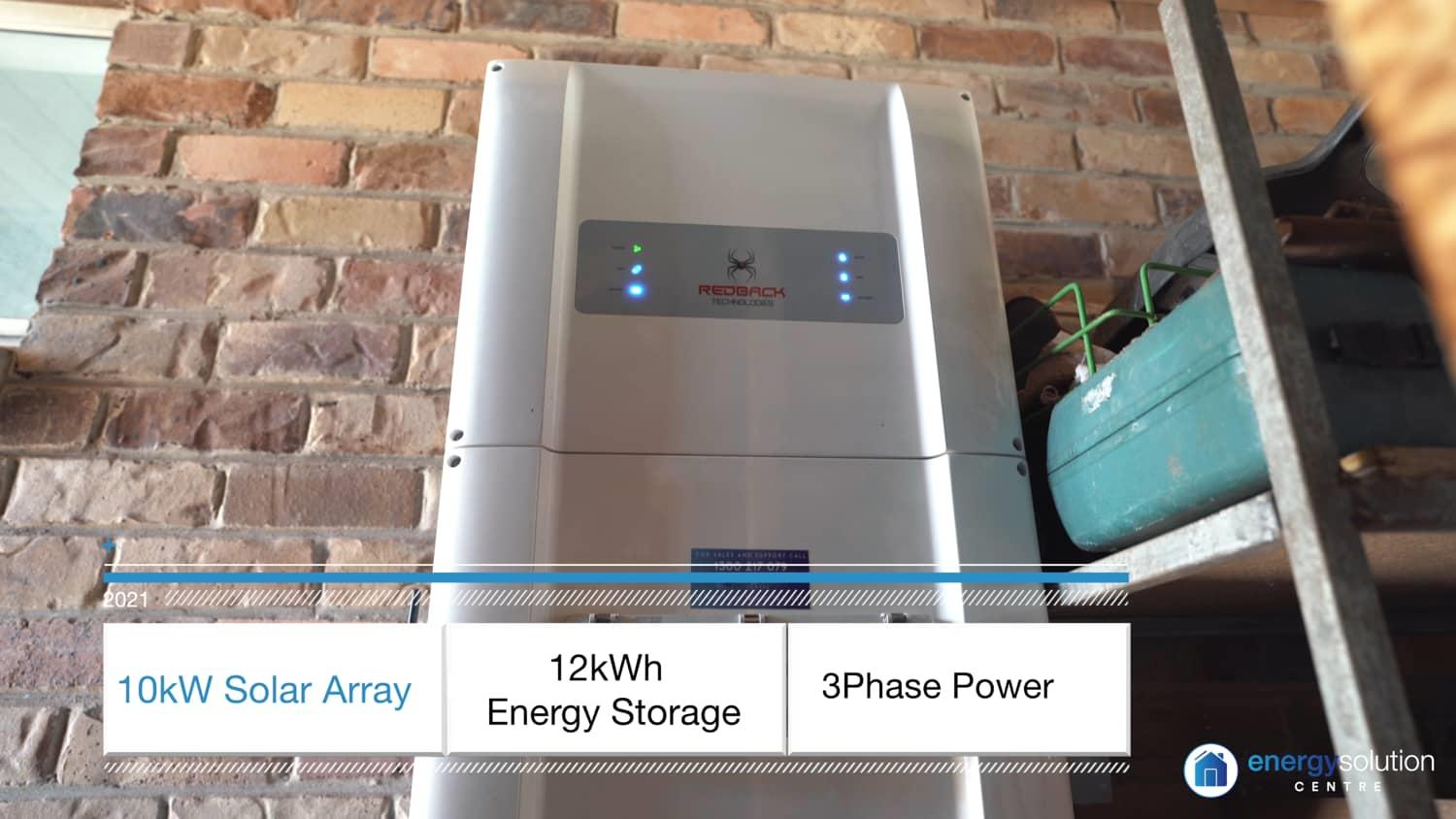 """Featured image for """"10kW Solar 12kWh Battery Redback 3Phase"""""""